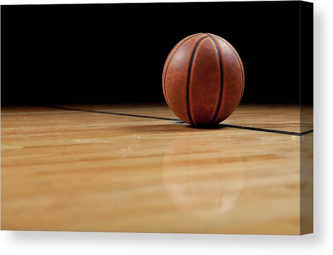 Ball Canvas Print featuring the photograph Basketball by Garymilner