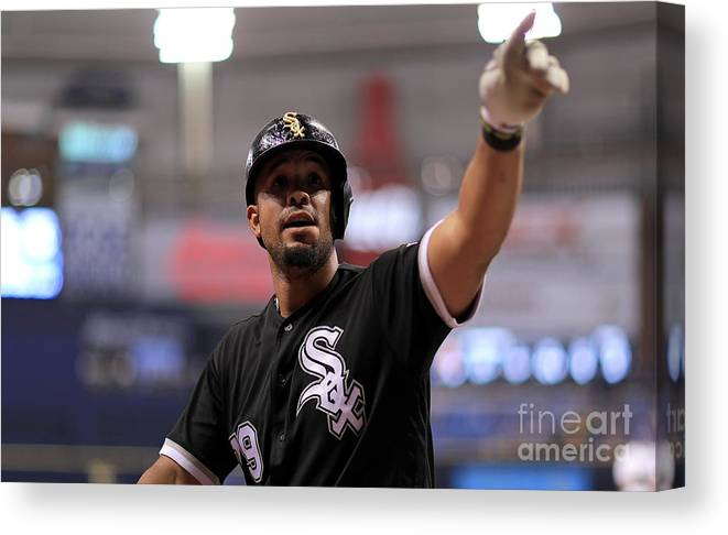 People Canvas Print featuring the photograph Chicago White Sox V Tampa Bay Rays by Mike Ehrmann
