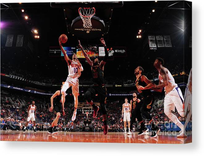 Nba Pro Basketball Canvas Print featuring the photograph Cleveland Cavaliers V Phoenix Suns by Barry Gossage