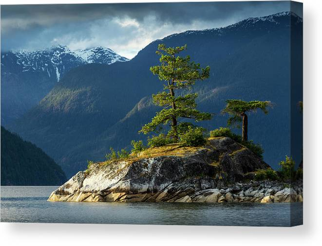 Scenics Canvas Print featuring the photograph Desolation Sound, Bc, Canada by Paul Souders