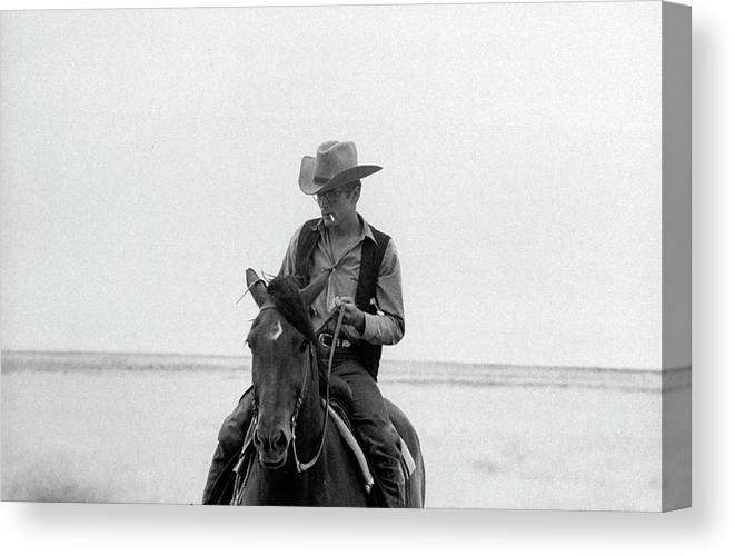 Timeincown Canvas Print featuring the photograph James Dean by Allan Grant