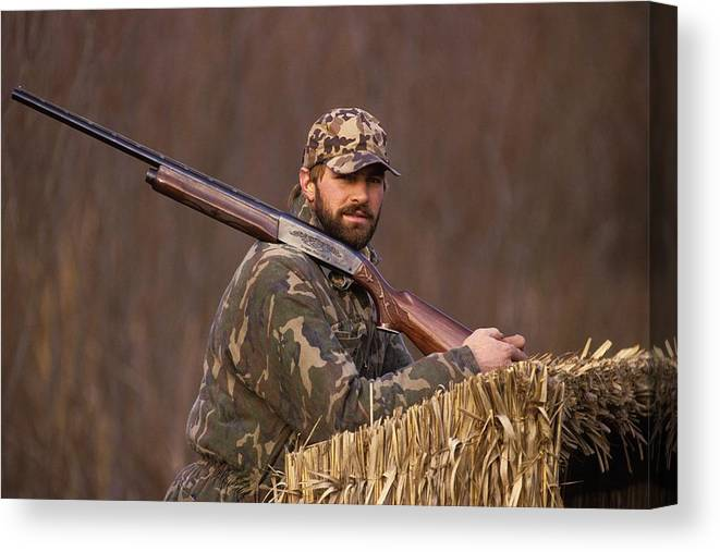 1980-1989 Canvas Print featuring the photograph Kirk Gibson Goes Duck Hunting by Ronald C. Modra/sports Imagery