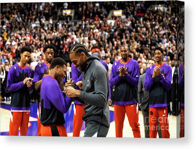 Nba Pro Basketball Canvas Print featuring the photograph La Clippers V Toronto Raptors by Mark Blinch