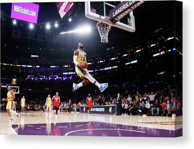 Nba Pro Basketball Canvas Print featuring the photograph Lebron James by Chris Elise