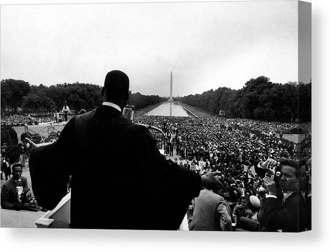 Martin Luther King Jr. Canvas Print featuring the photograph Martin Luther King Jr by Paul Schutzer
