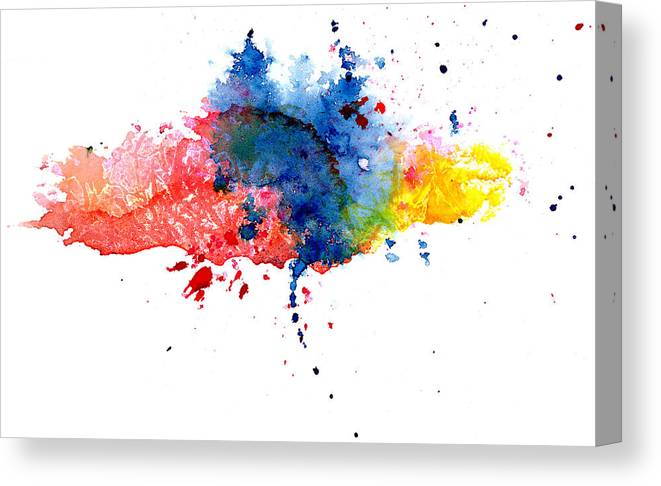 Watercolor Painting Canvas Print featuring the photograph Multicolored Splashes by Alenchi