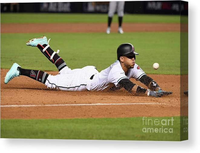 Playoffs Canvas Print featuring the photograph National League Wild Card Game - by Norm Hall