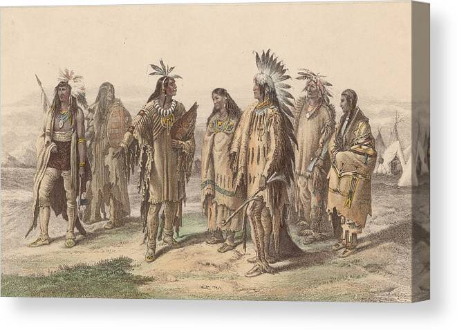 American Culture Canvas Print featuring the digital art Native Americans by Hulton Archive