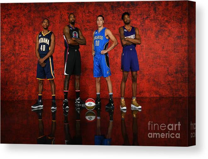 Smoothie King Center Canvas Print featuring the photograph Nba All-star Portraits 2017 by Jesse D. Garrabrant