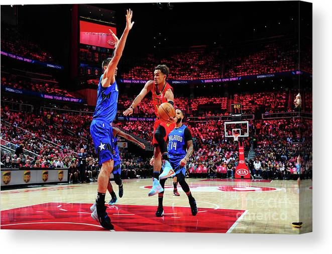 Atlanta Canvas Print featuring the photograph Orlando Magic V Atlanta Hawks by Scott Cunningham