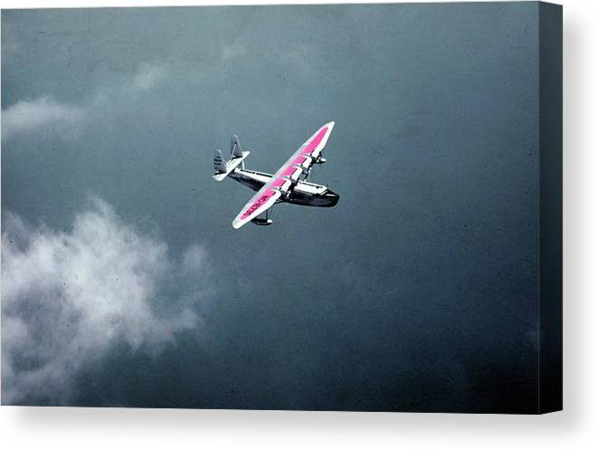 1930-1939 Canvas Print featuring the photograph Pan Am Bermuda Clipper by Michael Ochs Archives