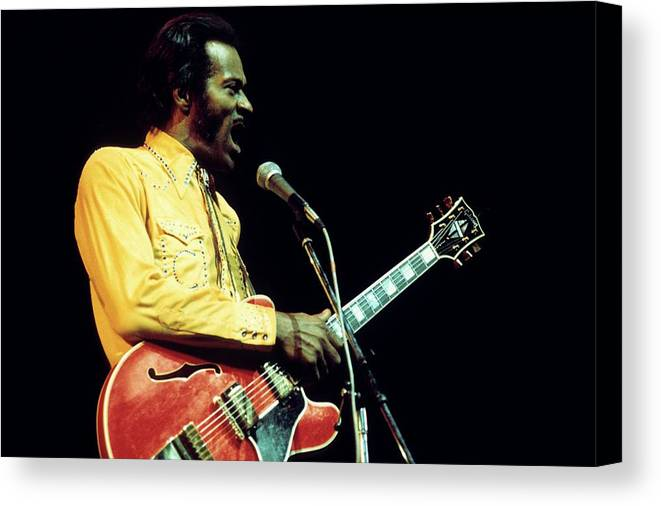 People Canvas Print featuring the photograph Photo Of Chuck Berry by Andrew Putler