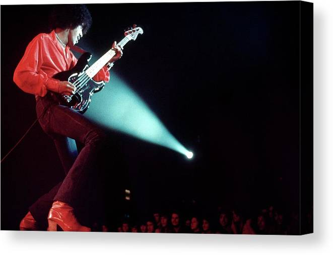 Heavy Metal Canvas Print featuring the photograph Photo Of Phil Lynott And Thin Lizzy by Erica Echenberg
