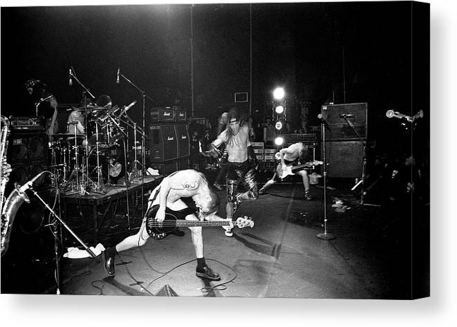 Rock Music Canvas Print featuring the photograph Red Hot Chili Peppers London Astoria by Martyn Goodacre