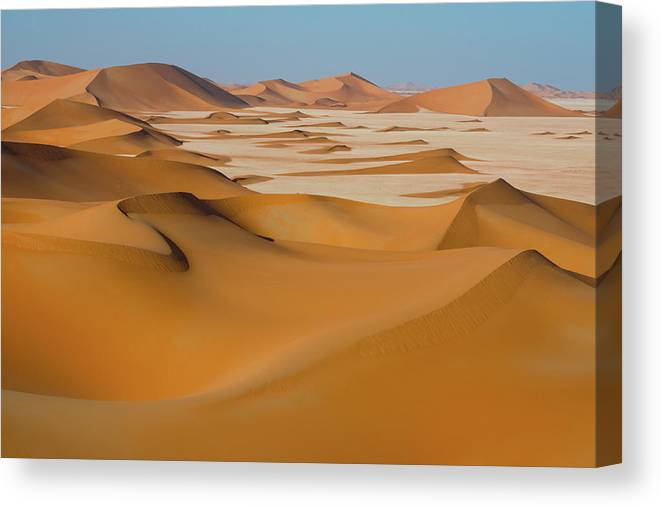 Tranquility Canvas Print featuring the photograph Rub Al-khali Empty Quarter by All Rights Reserved For Ahmed Al-shukaili