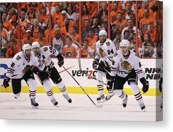 Playoffs Canvas Print featuring the photograph Stanley Cup Finals - Chicago Blackhawks by Bruce Bennett