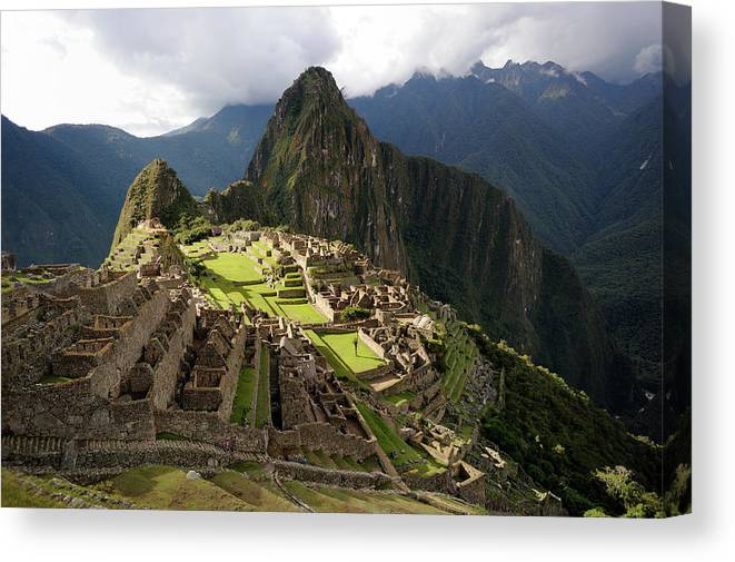Disbelief Canvas Print featuring the photograph The Lost Inca City Of Machu Picchu by Elmvilla