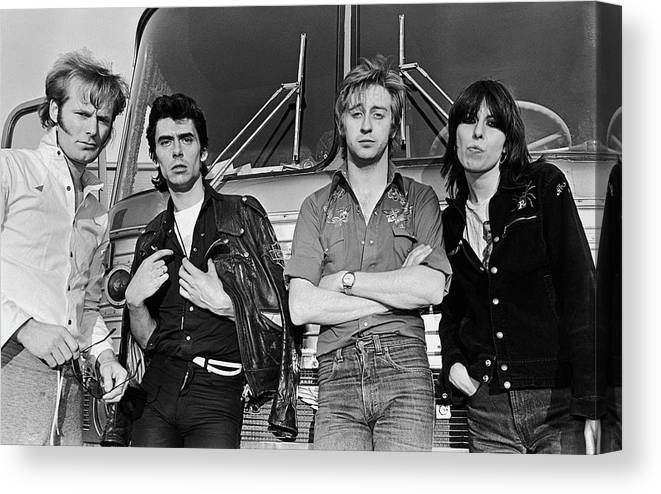 Rock Music Canvas Print featuring the photograph The Pretenders by George Rose