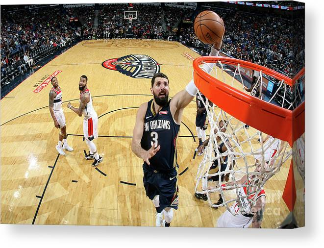 Smoothie King Center Canvas Print featuring the photograph Washington Wizards V New Orleans by Layne Murdoch Jr.