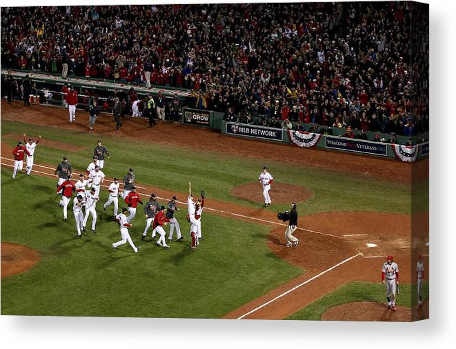 St. Louis Cardinals Canvas Print featuring the photograph World Series - St Louis Cardinals V by Alex Trautwig