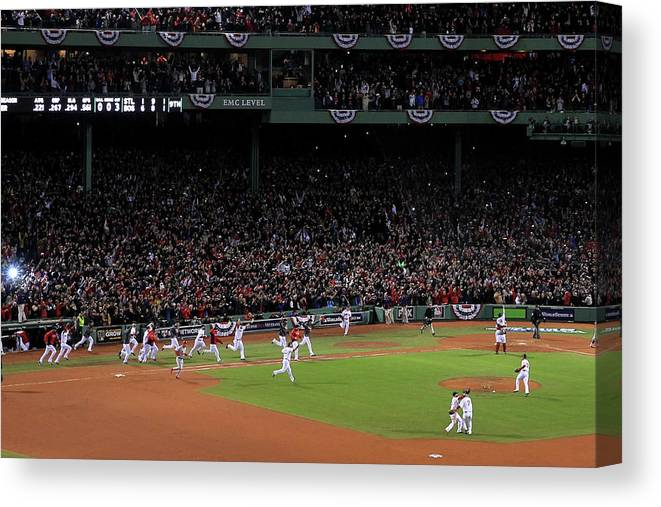 St. Louis Cardinals Canvas Print featuring the photograph World Series - St Louis Cardinals V by Jim Rogash