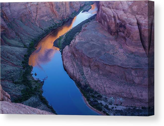 Tranquility Canvas Print featuring the photograph Sand Stone Rock Formation In Sw Usa by Gavriel Jecan
