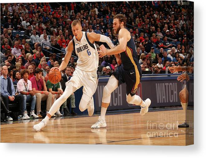 Smoothie King Center Canvas Print featuring the photograph Dallas Mavericks V New Orleans Pelicans by Layne Murdoch Jr.