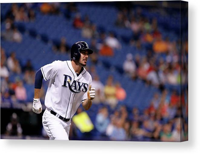 Second Inning Canvas Print featuring the photograph Toronto Blue Jays V Tampa Bay Rays by Brian Blanco