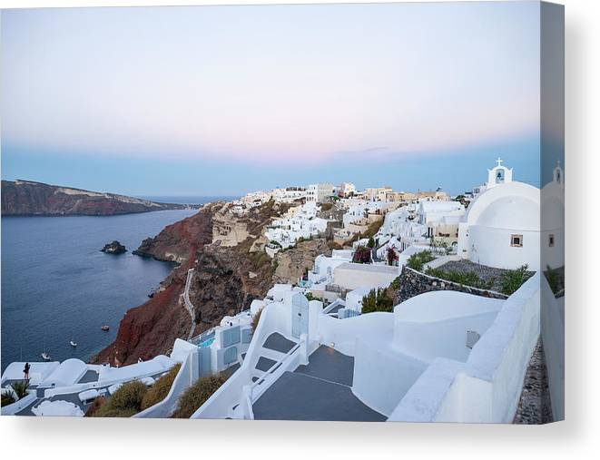 Tranquility Canvas Print featuring the photograph Santorini Greece by Neil Emmerson