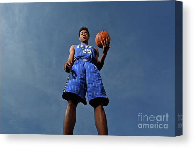 Nba Pro Basketball Canvas Print featuring the photograph 2017 Nba Rookie Photo Shoot by Jesse D. Garrabrant