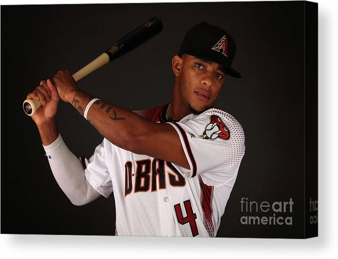 Media Day Canvas Print featuring the photograph Arizona Diamondbacks Photo Day by Christian Petersen