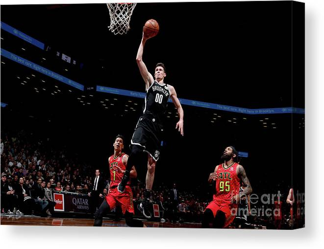 Nba Pro Basketball Canvas Print featuring the photograph Atlanta Hawks V Brooklyn Nets by Nathaniel S. Butler