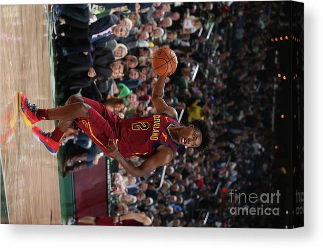 Nba Pro Basketball Canvas Print featuring the photograph Cleveland Cavaliers V Milwaukee Bucks by Gary Dineen
