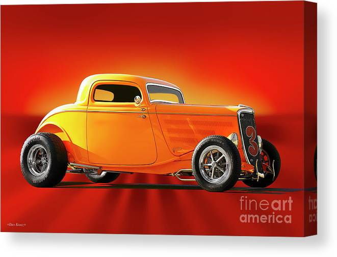 1934 Ford Canvas Print Canvas Art By Dave Koontz