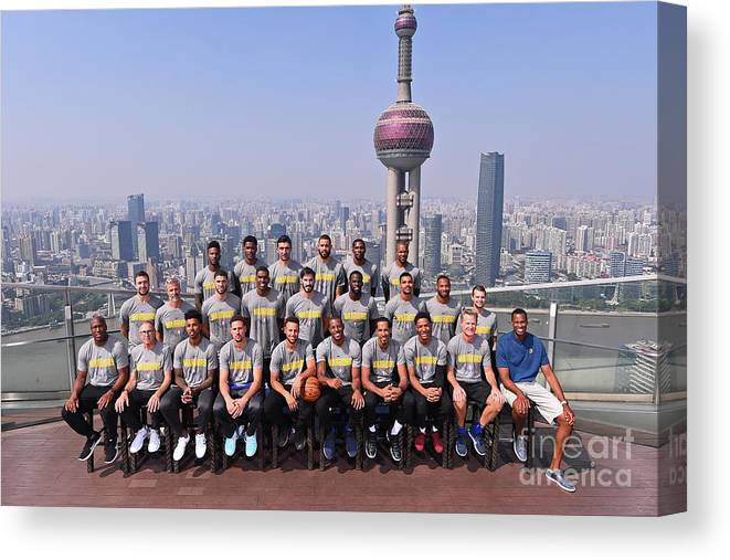 Event Canvas Print featuring the photograph 2017 Nba Global Games - China by Noah Graham