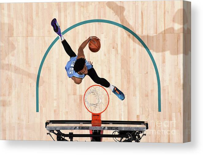 Nba Pro Basketball Canvas Print featuring the photograph 2019 Mtn Dew Ice Rising Stars by Andrew D. Bernstein
