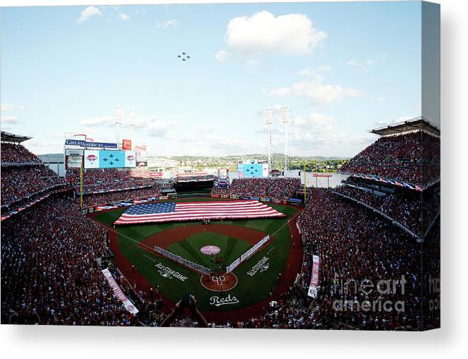 Great American Ball Park Canvas Print featuring the photograph 86th Mlb All-star Game by Joe Robbins