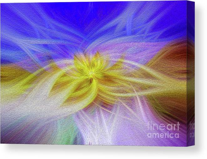 Art Print Canvas Print featuring the digital art Convergence 3 by Kenneth Montgomery