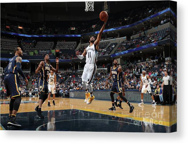 Nba Pro Basketball Canvas Print featuring the photograph Indiana Pacers V Memphis Grizzlies by Joe Murphy