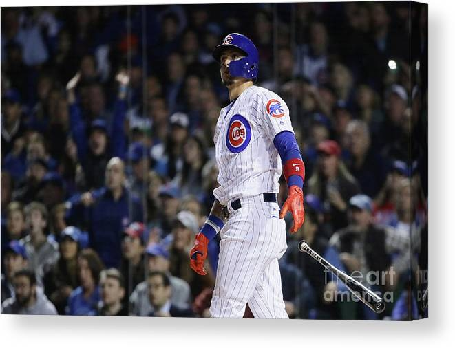 Second Inning Canvas Print featuring the photograph League Championship Series - Los by Jonathan Daniel