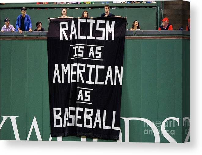 American League Baseball Canvas Print featuring the photograph Oakland Athletics V Boston Red Sox by Billie Weiss/boston Red Sox