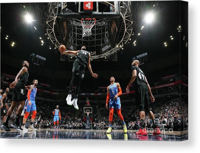Nba Pro Basketball Canvas Print featuring the photograph Oklahoma City Thunder V Minnesota by David Sherman