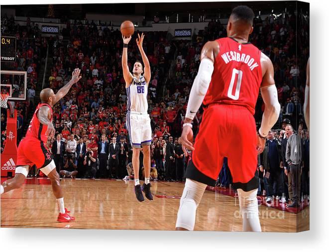 Nba Pro Basketball Canvas Print featuring the photograph Sacramento Kings V Houston Rockets by Bill Baptist
