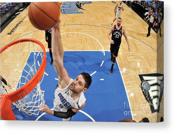 Playoffs Canvas Print featuring the photograph Toronto Raptors V Orlando Magic - Game by Fernando Medina