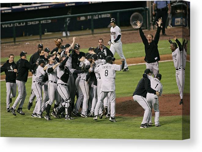 People Canvas Print featuring the photograph 2005 World Series - Chicago White Sox by G. N. Lowrance