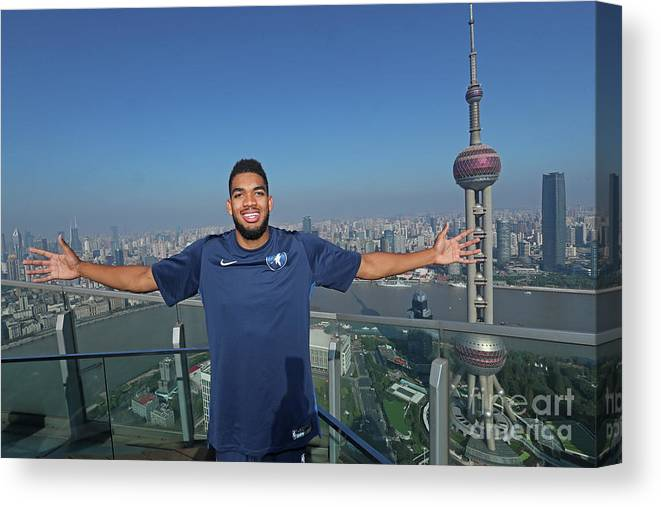 Event Canvas Print featuring the photograph 2017 Nba Global Games - China by Joe Murphy