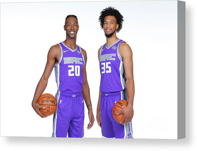 Media Day Canvas Print featuring the photograph 2018-19 Sacramento Kings Media Day by Rocky Widner