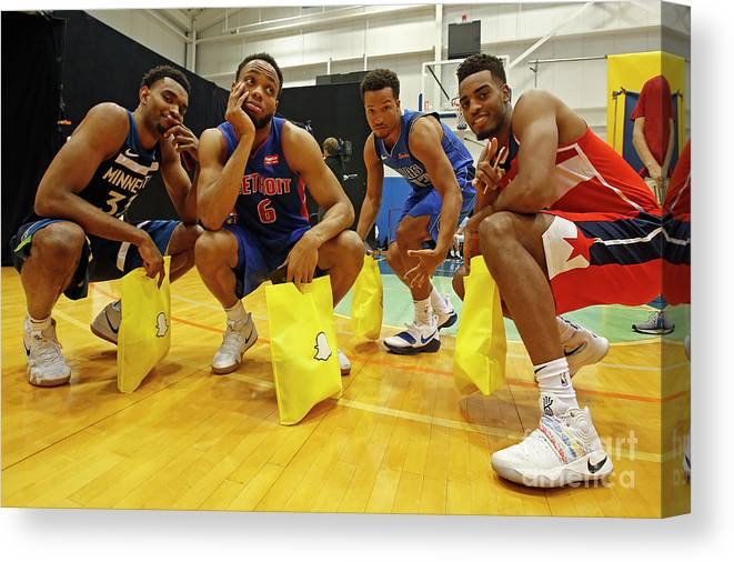 Nba Pro Basketball Canvas Print featuring the photograph 2018 Nba Rookie Photo Shoot by Michelle Farsi