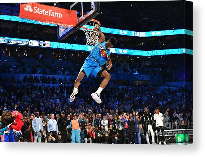 Nba Pro Basketball Canvas Print featuring the photograph 2019 At&t Slam Dunk by Jesse D. Garrabrant