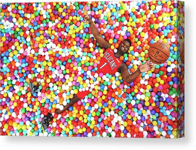 Nba Pro Basketball Canvas Print featuring the photograph 2019 Nba Rookie Photo Shoot by Jennifer Pottheiser